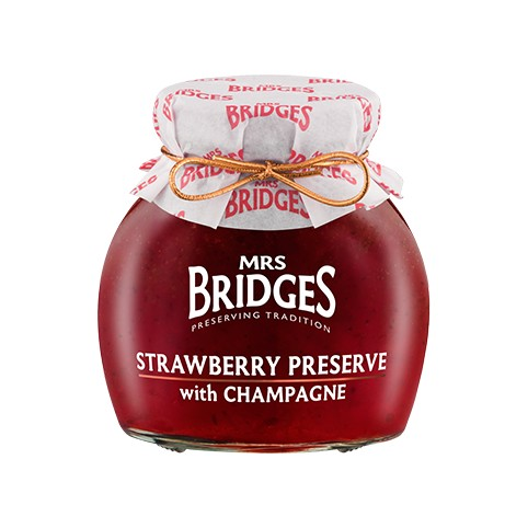 Mermelada De Fresas con Champagne 340gr - Mr Bridges