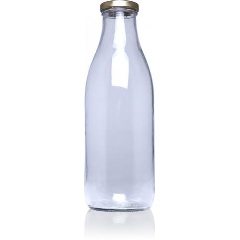 Botella de vidrio con tapa rosca (500ml - 1000ml)