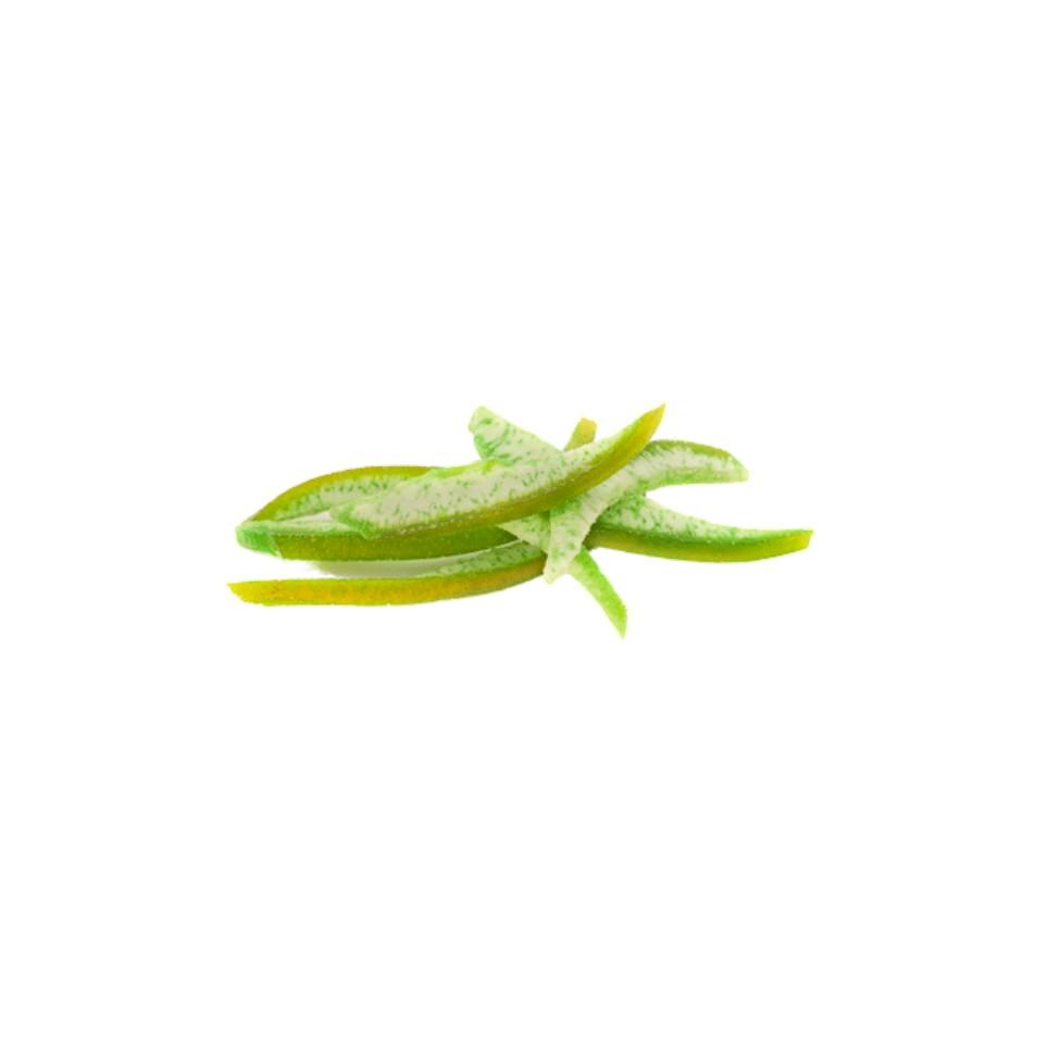 Pomelo verde desecado en tiras
