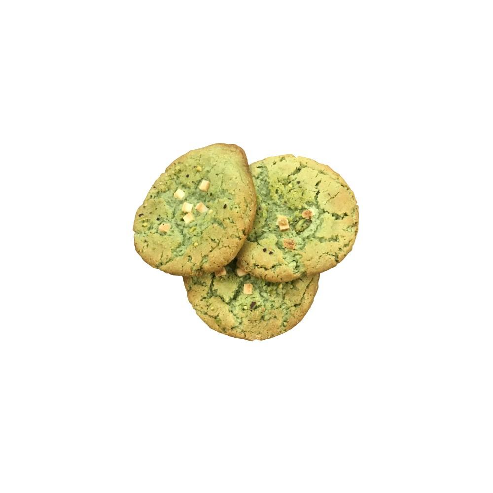 Caja Cookies Xl Artesanas Pistacho/Chocolate Blanco