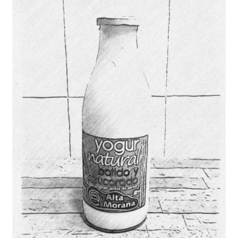 Yogur Natural batido azucarado 1 LITRO